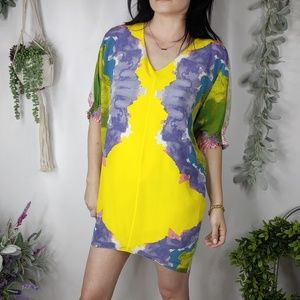TIBI New York NWOT silk mini dress 3/4 sleeve